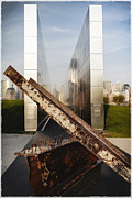 Empty Sky New Jersey September 11th Memorial Print by George Oze