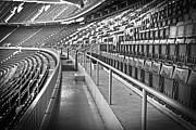 League Prints - Empty soccer stadium Print by Michal Bednarek