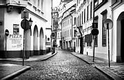 Empty Street In Prague Print by John Rizzuto