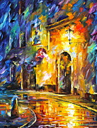 Building Painting Originals - Empty Street new by Leonid Afremov