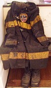 Paul Pyrography - Empty Uniform - 911 by Ann Whitfield