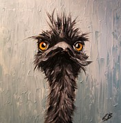 Emu Paintings - Emu by Elizabeth Barrett