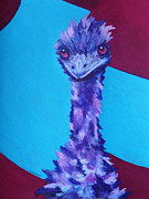 Emu Paintings - Emu Eyes by Margaret Saheed