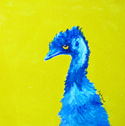 Emu Paintings - Emu Gold by Margaret Saheed