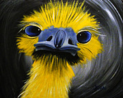 Emu Paintings - Emu of Color by Jean Kieffer