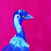Emu Paintings - Emu Pink by Margaret Saheed