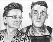 Elderly Drawings - Emzey and Lila by Lena Auxier