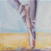 Dance Shoes Posters - En Pointe Poster by Donna Tuten