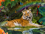 Enchaned Tigress Print by Alixandra Mullins