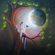 Full Moon Paintings - Enchanted Beginnings by Shawna Erback by Shawna Erback