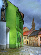 Colorful Greeting Cards Posters - Enchanted. Bratislava Poster by Juli Scalzi