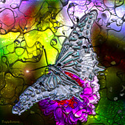 Signed Digital Art Posters - Enchanted butterfly. Fourth.   Poster by Tautvydas Davainis