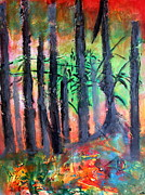 Enchanted Forest Paintings - Enchanted by Carmencita Balagtas