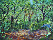 Scrub Jay Paintings - Enchanted Clearing by AnnaJo Vahle