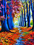 Enchanted Forest Paintings - Enchanted Forest by Ryszard Sleczka