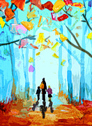 Greeting_cards Posters - Enchanted forest Poster by Steven Ponsford