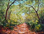 Frond Painting Prints - Enchanted Path Print by AnnaJo Vahle