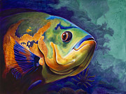 Grouper Paintings - Enchanted Reef by Scott Spillman