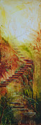 Stairway To Heaven Painting Prints - Enchanted Stairway Print by Amani Hanson