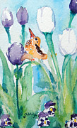 Tulips Paintings - Enchanted with Divine Love by Ashleigh Dyan Moore
