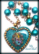 Teal Jewelry - Enchanting Abyss necklace by Razz Ace