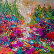 Peaceful Scene Paintings - Enchantment  by Kat Ebert