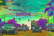 Old Towns Digital Art Prints - Encinitas California 5D24221p180 Print by Wingsdomain Art and Photography