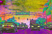 Old Towns Digital Art Prints - Encinitas California 5D24221p68 Print by Wingsdomain Art and Photography