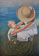 Realistic Art - Encircled by Love by Holly Kallie