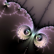 Purple Artwork Posters - Encounter - digital fractal artwork Poster by Matthias Hauser
