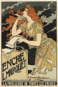 Paris Digital Art Posters - Encre L. Marquet Poster by Sanely Great