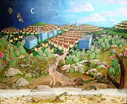 Reptiles Paintings - Encroachment by Katherine Young-Beck