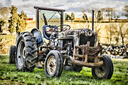 Tractor Photo Posters - End of a Days Work Poster by Heather Applegate