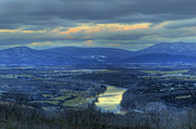 Shenandoah Valley Posters - End of December Shenandoah Valley Sunset 2012 Poster by Lara Ellis