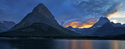 Glacier National Park Posters - End of the Day Poster by Andrew Soundarajan