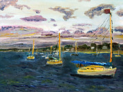 Cape Cod Paintings - End of the Day on Cape Cod Bay by Michael Helfen