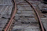 Railroads Photo Metal Prints - End of the line Metal Print by Garry Gay