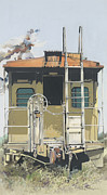 Caboose Mixed Media - End of the Line by Jim Bray