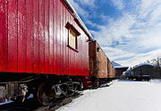 Winter Scene Photo Prints - End Of The Line Print by Peter Chilelli