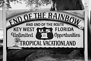 Highway One Posters - End Of The Rainbow Sign Us Route 1 Key West Florida Usa Poster by Joe Fox
