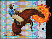 Black Man Painting Prints - End of The Ride Print by John Lautermilch