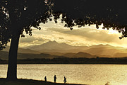 Kids Prints Photo Prints - End to a Golden Day At the Lake Print by James Bo Insogna