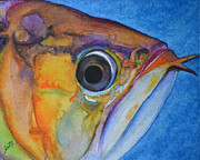 Tropical Fish Paintings - Endangered Eye III by Suzette Kallen