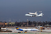 Spaceshuttle Framed Prints - Endeavors Final 300 ft flyover runway 25 Framed Print by Denise Dube