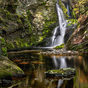 Cascading Water Prints - Enders Falls Print by Bill  Wakeley