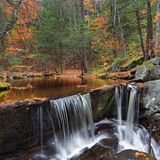 Granby Prints - Enders Falls Square Print by Bill  Wakeley