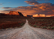 Dirt Roads Photo Prints - Endless Byway Print by Jeffrey Campbell