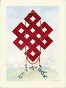 Tibetan Buddhism Paintings - Endless Knot by Wicki Van De Veer