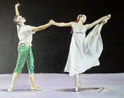 Contemporary Dance Paintings - Endless Love by Judy Kay