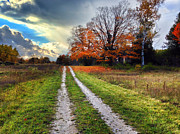 Wisconsin Prints - Endless road Print by Jeff Klingler